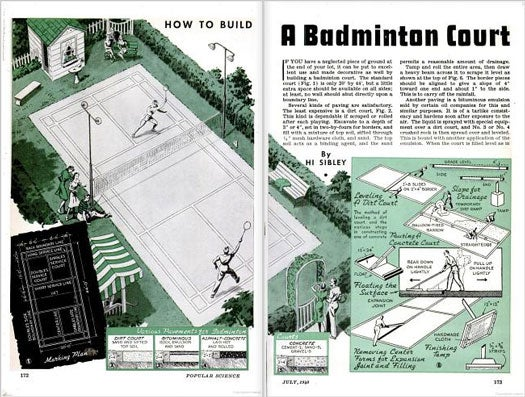 A Badminton Court You Can Build: July 1940