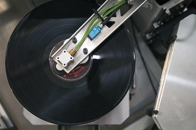 automated record press