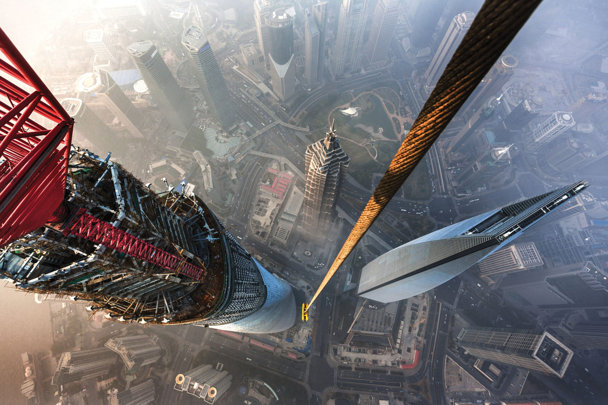 Looking Down From The Top Of The World's Second-Tallest Building