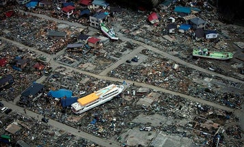 The Atmospheric Signature of the Japan Tsunami Could Help Develop a Space-Based Warning System
