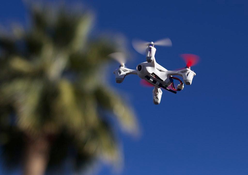 Quadcopter in flight
