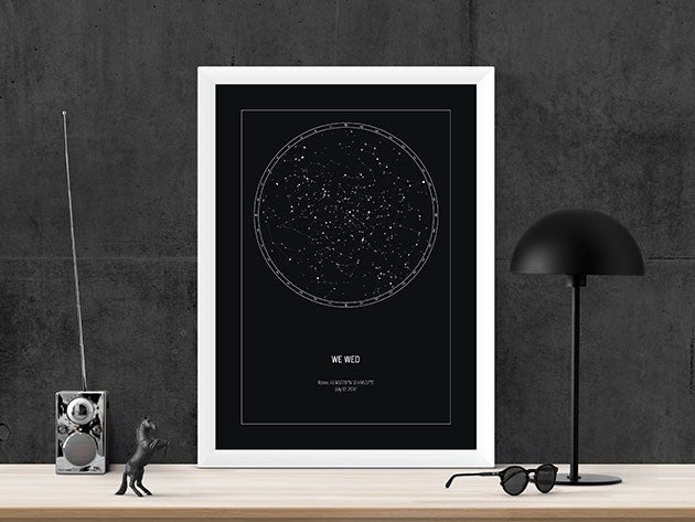 These star maps are a unique way to remember precious moments