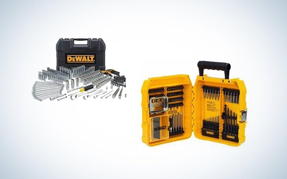 DeWalt Mechanic's tools and drill set