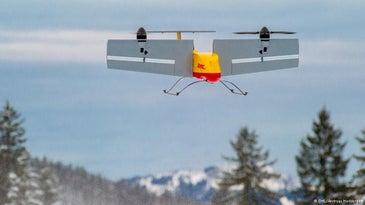 DHL Parcel Drone Hovering