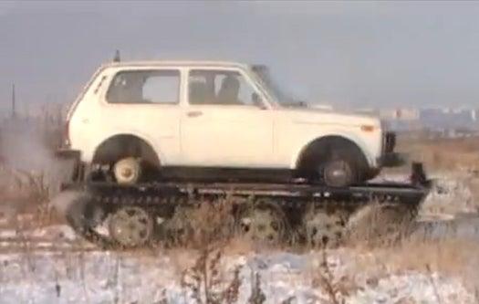 Video: Easy Russian DIY Car-to-Tank Conversion Kit
