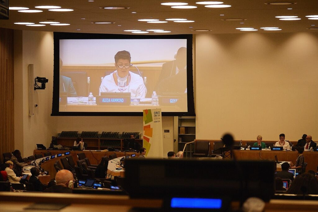 The afternoon sessions at the U.N. Climate Summit