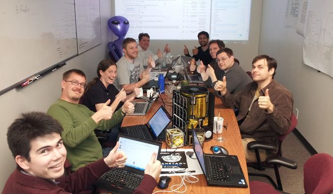 Engineers at asteroid-mining company Planetary Resources