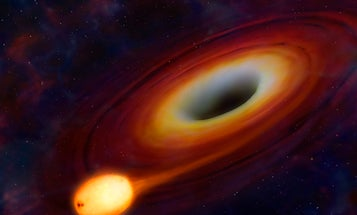 Ultra-Bright Burst of Light Marks the Death Throes of a Star Being Eaten Alive