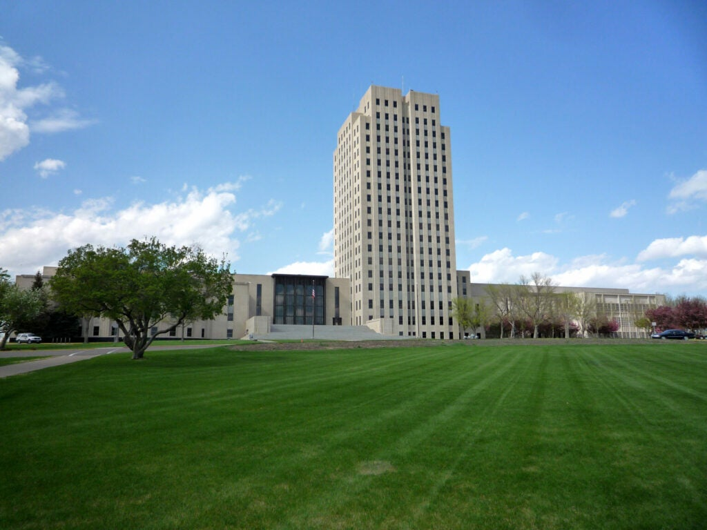 The capitol building in Bismark, North Dakota.