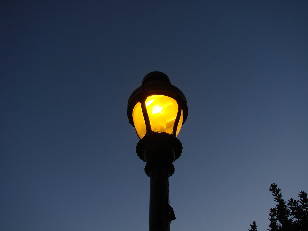 Automatic Streetlamps Switch On When Cars Pass, Switch Off When Traffic Ceases