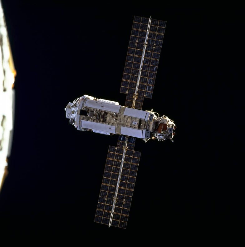 ISS Assembly Mission 1 A/R in orbit