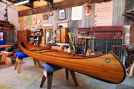 A Wooden Canoe Built By Nick Offerman