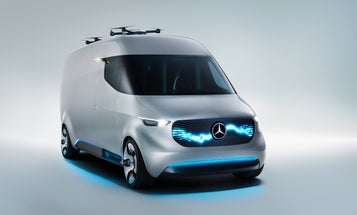 Mercedes-Benz's Vision Van Concept Is A Nest For Delivery Drones