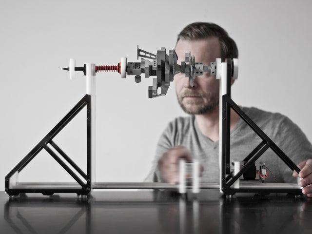 German Art Laser Turns Random Desktop Crap Into Exotic Musical Instruments