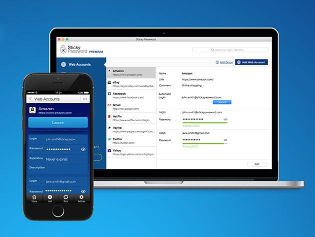 Sticky Password Premium makes a perfect last-minute present