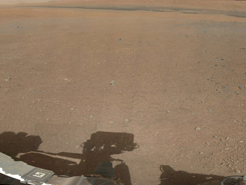 Mars Rover Curiosity Sends First Full-Color Panorama of Its New Martian Home