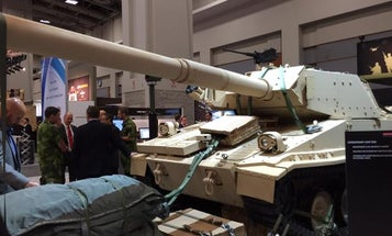British Aerospace Engineering Shows Off Old Parachuting Tank For New Wars