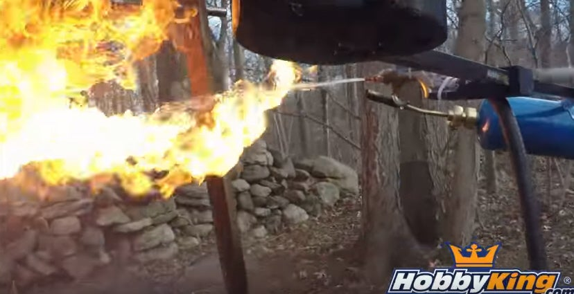 Drone With A Flamethrower
