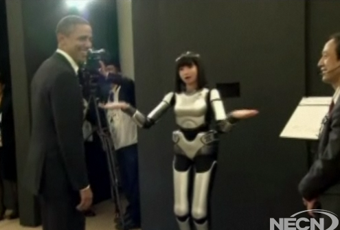 Video: President Obama Meets the Robots of Japan