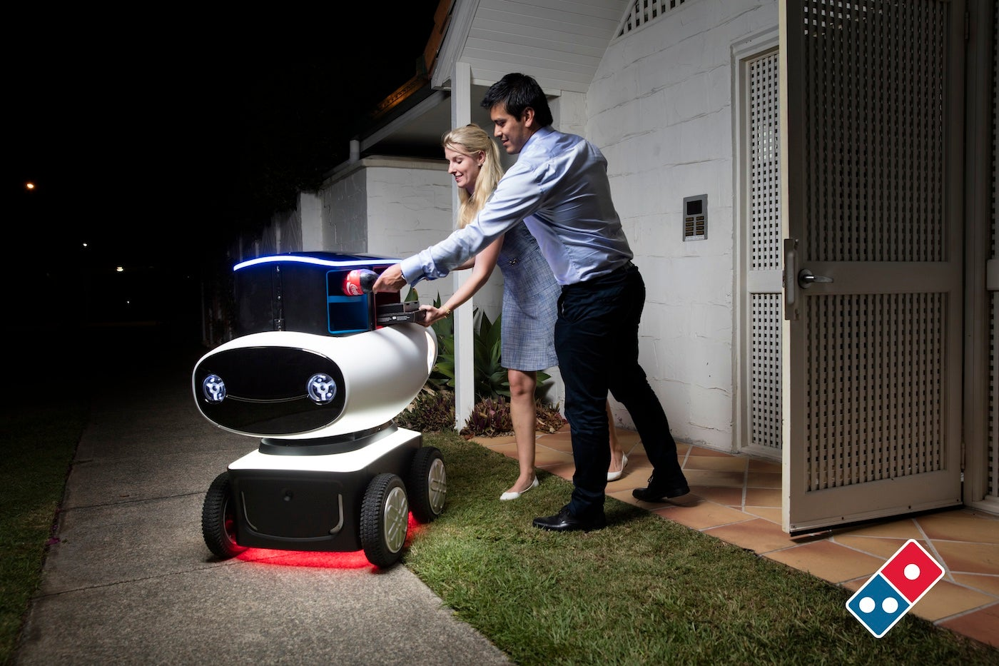 Domino's Unveils Delivery Robot That Drives Pizza Right To Your Door