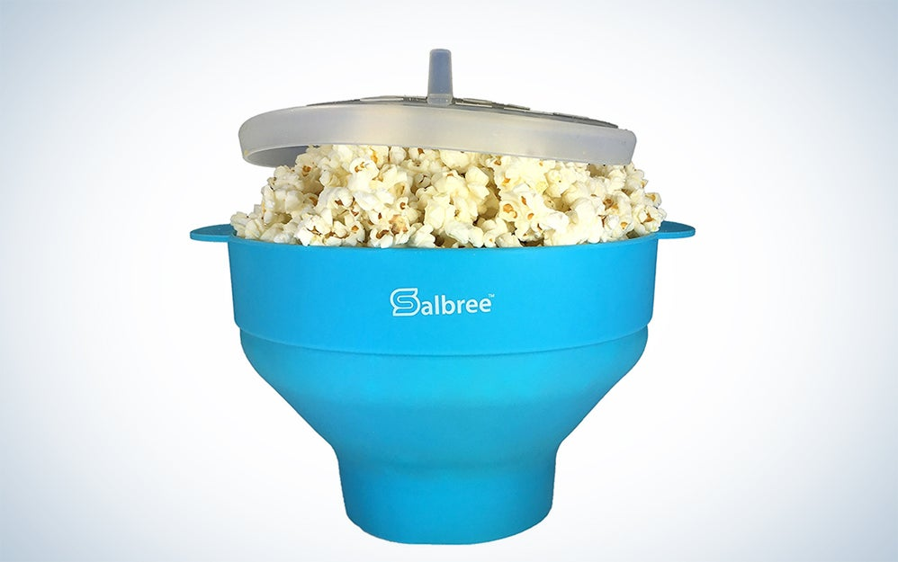 Salbree Collapsible Silicone Microwave Popcorn Popper