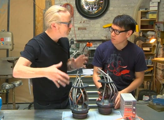 "Video: Adam Savage Show Off His ""Rocketeer""-Inspired Rocket Engines"