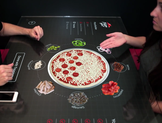 Order Pizza With Hand Motions Using Pizza Hut's New Interactive Tabletop