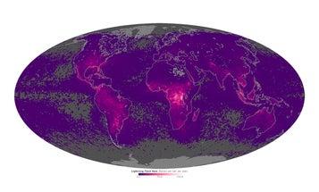 A Map Of Lightning Strikes Around the World