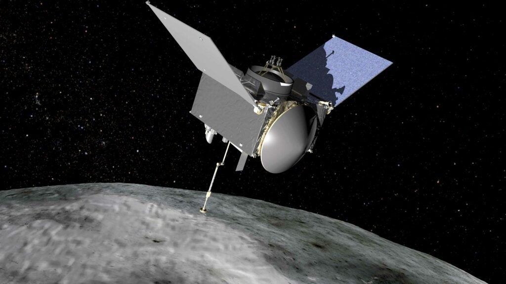 OSIRIS-REx spacecraft at bennu