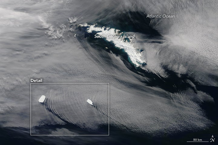 Icebergs Make Waves In Clouds Above The Southern Ocean