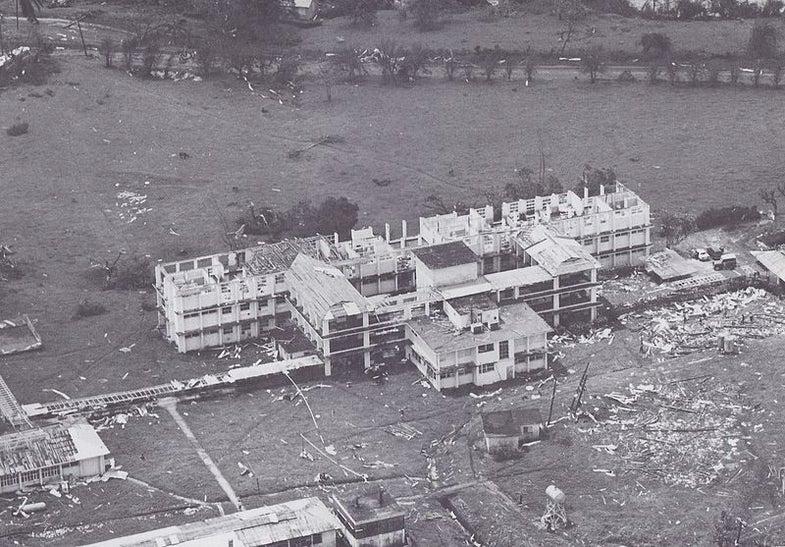 Hurricane Gilbert hospital ruins Jamiaca