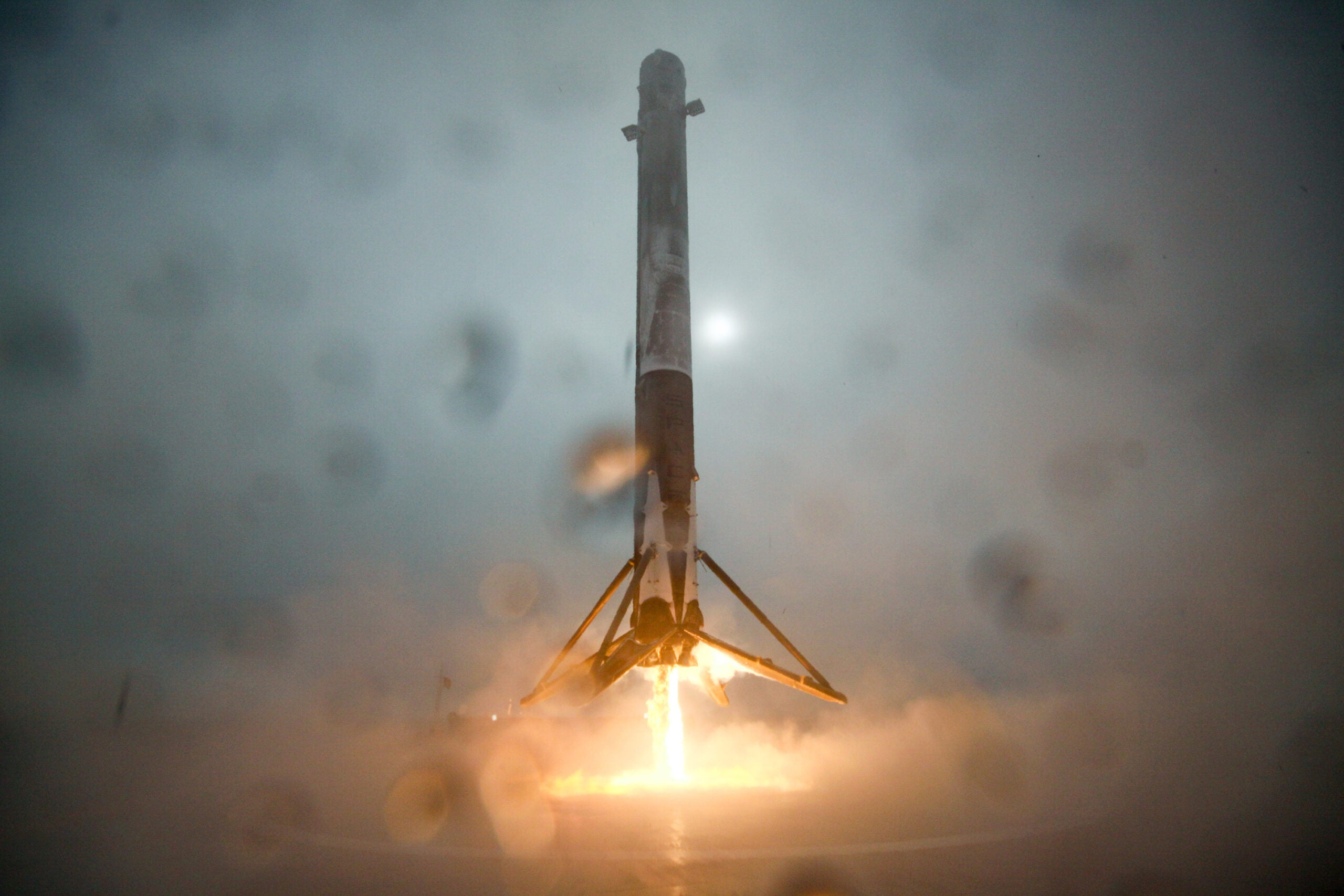 Video: SpaceX's Falcon 9 Rocket Lands On Drone Ship, Leans, Tips Over