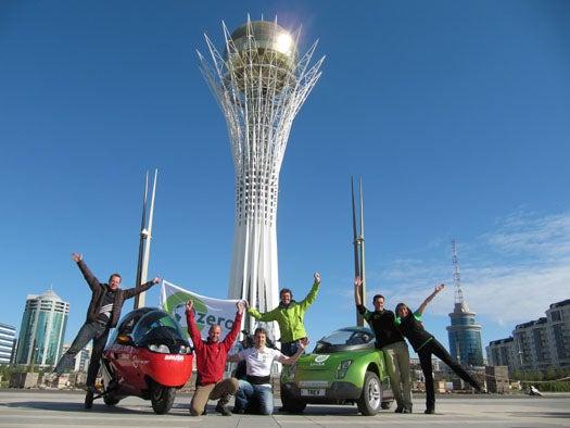 Three Zero-Emissions Vehicles End Their Round-The-World Tour in Geneva