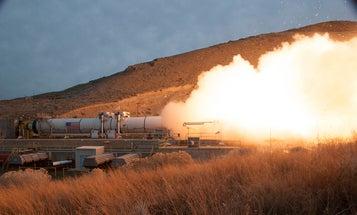 Watch NASA Test-Fire Its Heavy-Duty Mars Rocket