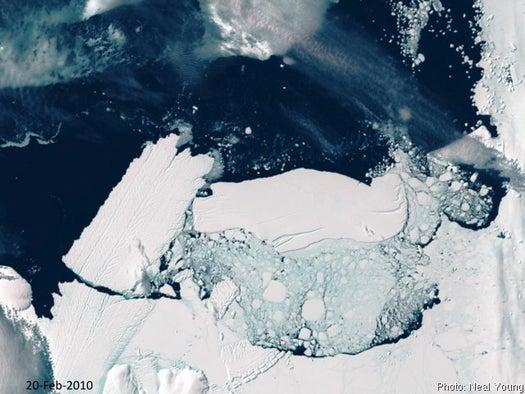 Antarctic Collision Snaps Rhode-Island-Sized Iceberg Off Glacier