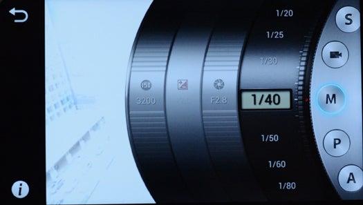 Samsung Galaxy Camera's Camera App