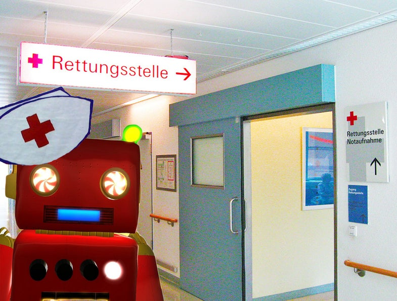 Welcome to the Emergency Room! Please Check In With the TriageBot For Processing