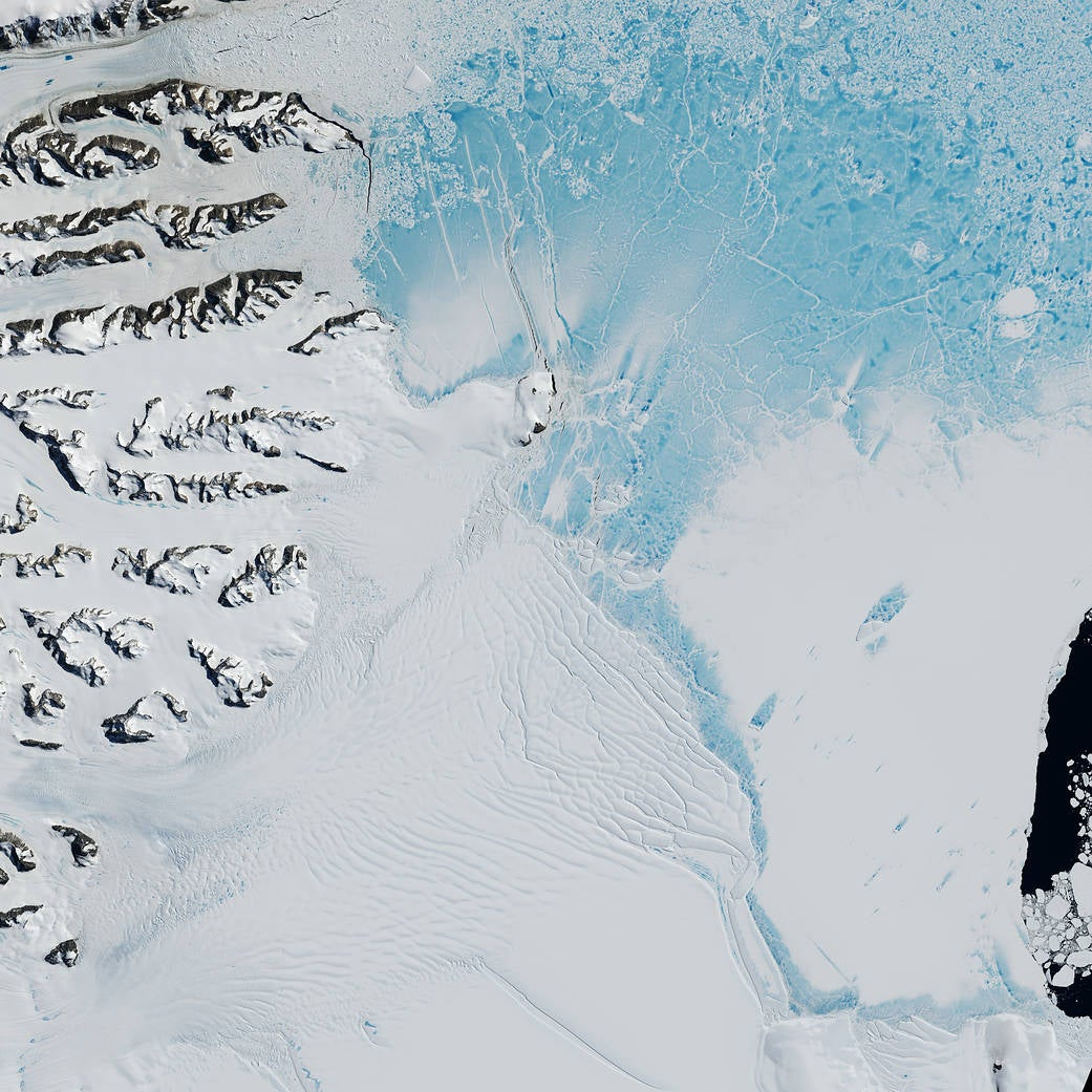 Here's how we were able to see that giant chunk of ice break off of Antarctica