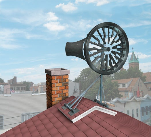 A Personal Turbine Makes Your Rooftop Into a Wind Farm