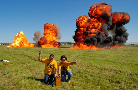"PopSci Q+A: The Power Couple of Pyrotechnics Explains the Perfect ""Wall of Fire"""