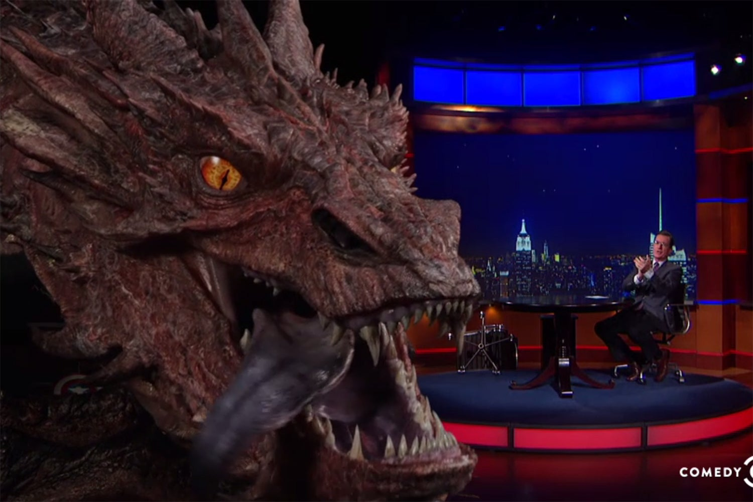 Special Effects 2014: Smaug Appears On 'The Colbert Report'