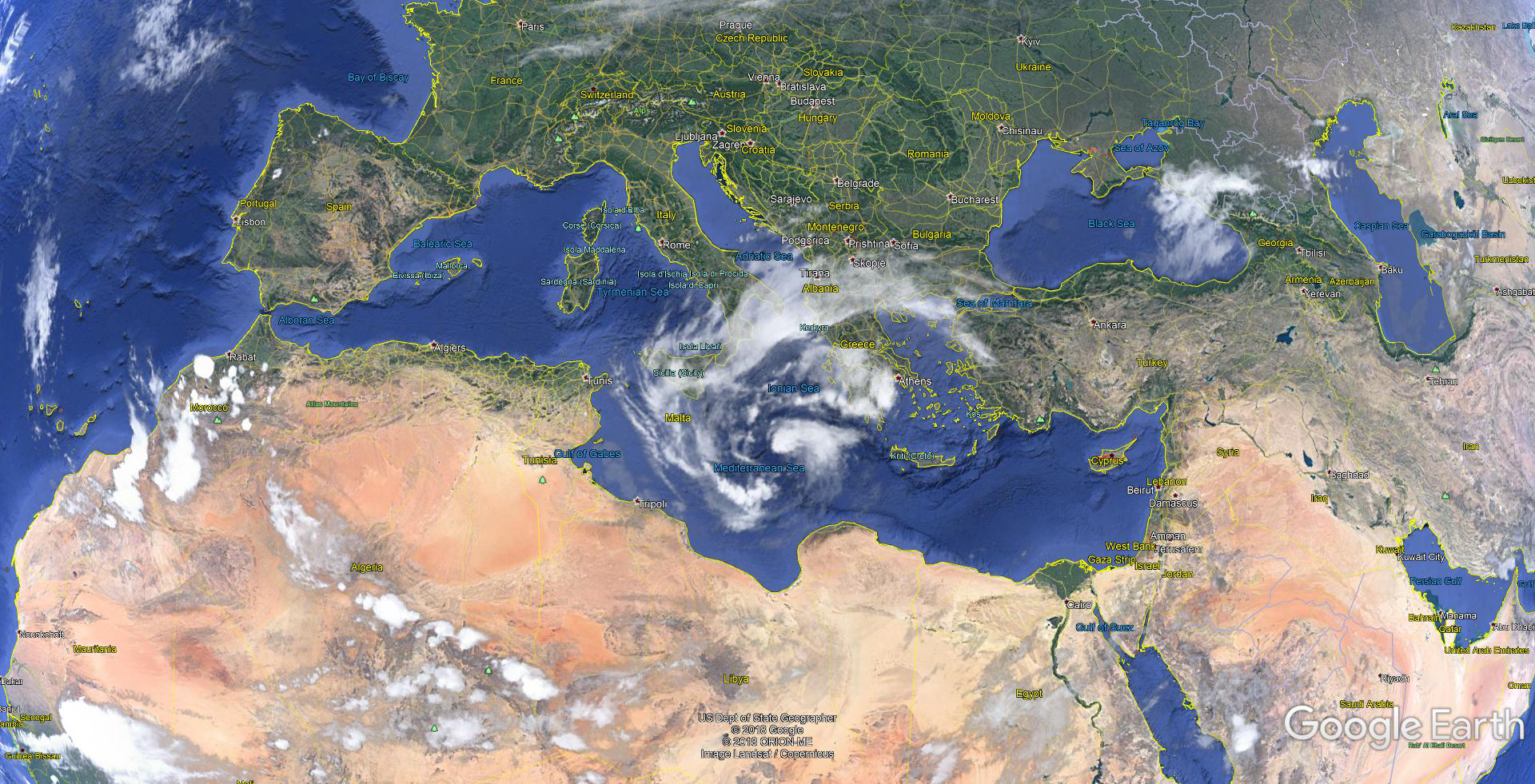 An uncommon storm called a 'Medicane' is headed for Greece