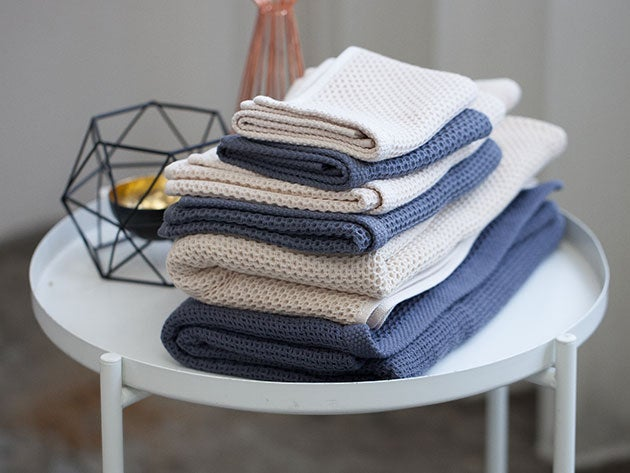 Mom will appreciate the design and tech behind these fast-drying towels