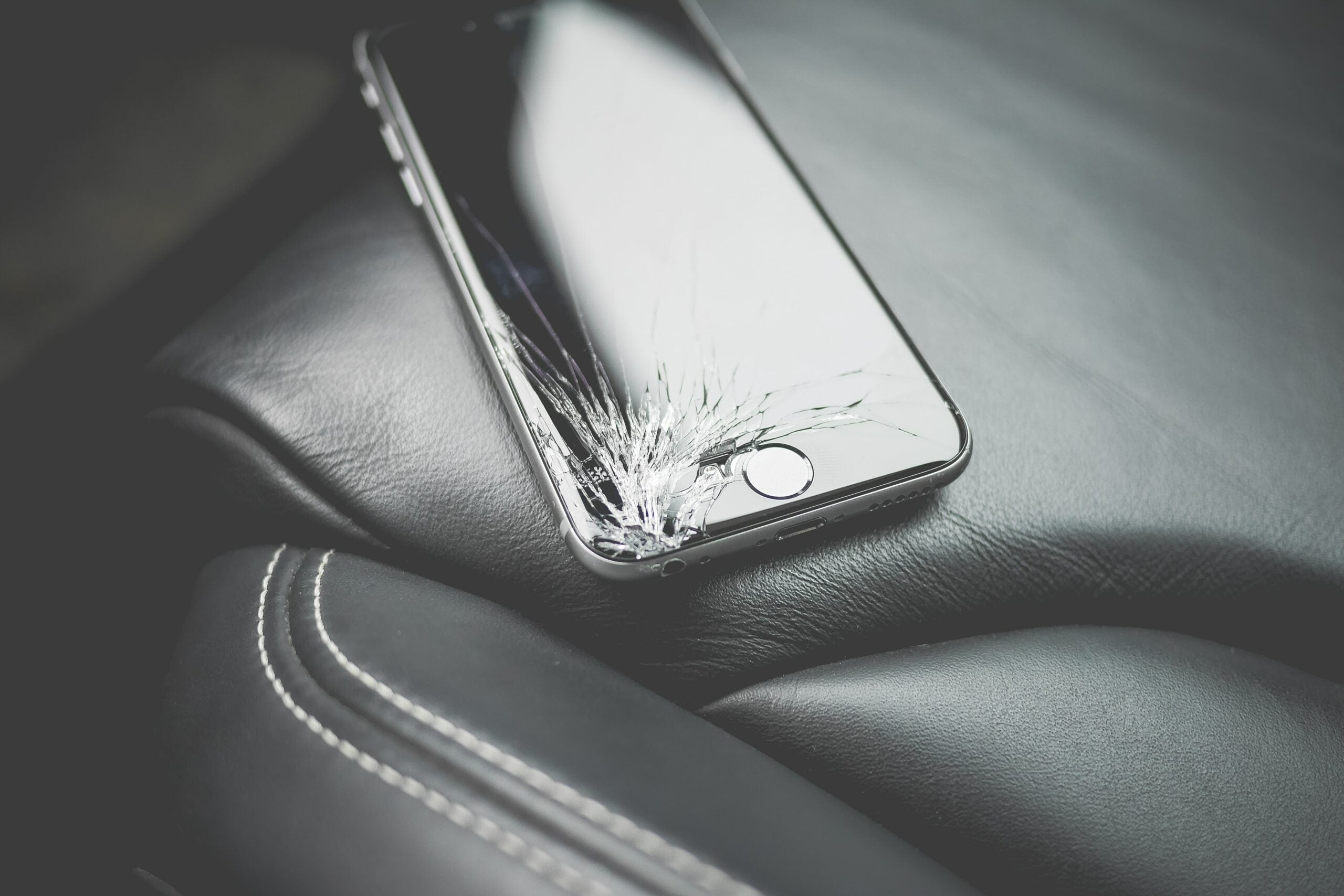 a cracked phone screen