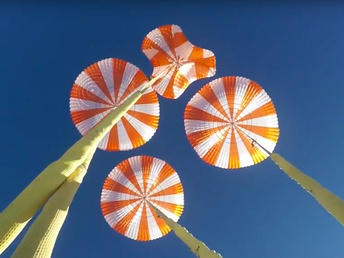 Watch SpaceX Test Its Parachutes For The Crew Dragon