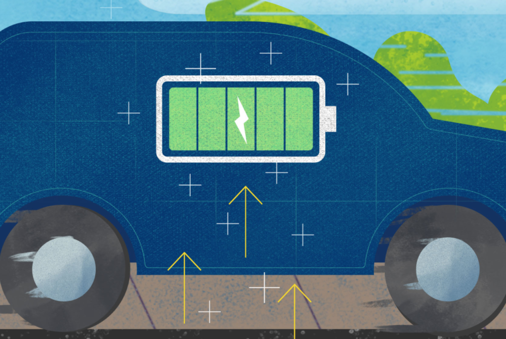 an illustration of an electric car