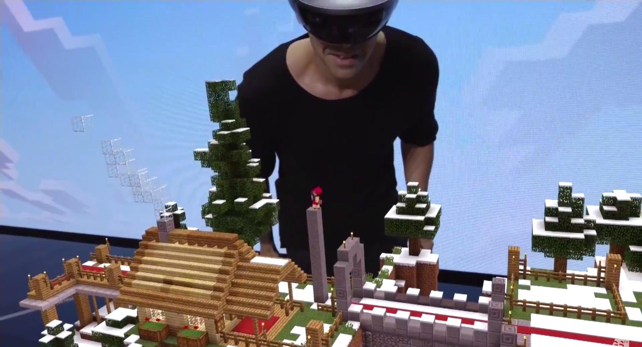 Minecraft on HoloLens