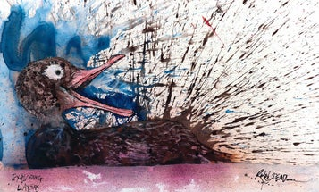 'Fear And Loathing' Cartoonist Ralph Steadman Illustrates Birds On The Brink Of Extinction