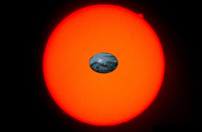 exoplanet looks stretched out