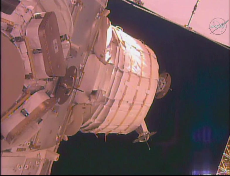 beam module attached to ISS
